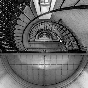 St Augustine Lighthouse Stairwell by Brian Baker - Buildings & Architecture Architectural Detail