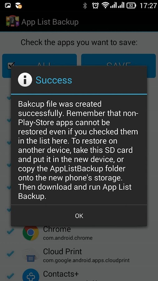 App List Backup Pro Screenshot 3