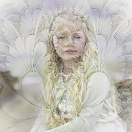 summer by Kathleen Devai - Digital Art People ( child, fantasy, art, flower, portrait )