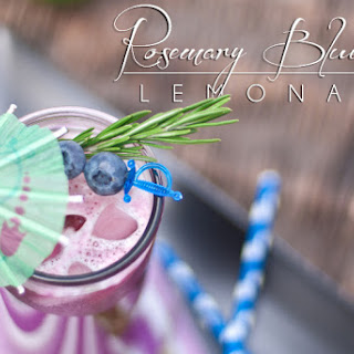 Rosemary Blueberry Paleo Lemonade