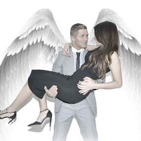 True Love 😍  by Lisa Kirkwood - People Couples ( love, wings, digital art, couple, people )