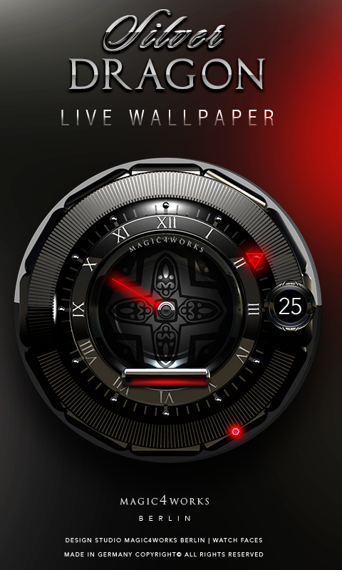 HD Analog Clock Bundle LWP 6 Screenshot 2