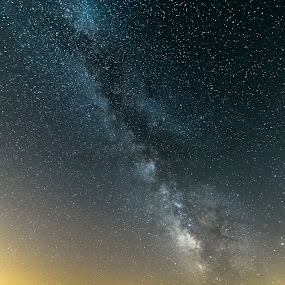 The Milky Way on Lake Pilato valley by Mauro Fini - Landscapes Starscapes ( vettore, natural park of sibillini, pilato lake, milky wey, redentore )