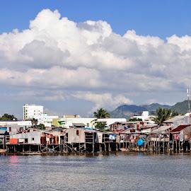 Riverside stilt houses by Le Van - Buildings & Architecture Homes ( houses, building )