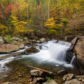 Fall At The Creek by Ronnie Phipps - Landscapes Waterscapes ( water, wilderness, nature, fall, creek, hike, river )