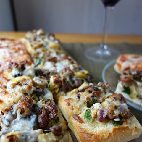 Grilled Veggie Ciabatta Pizza