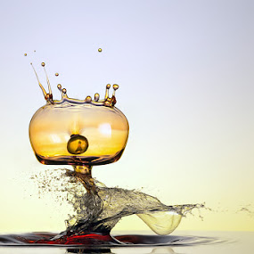 Escape of the Prisoner  by Markus Reugels - Abstract Water Drops & Splashes ( markus reugels, liquid art, high speed, water drop )