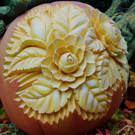 Carved Pumpkin by Millieanne T - Artistic Objects Other Objects