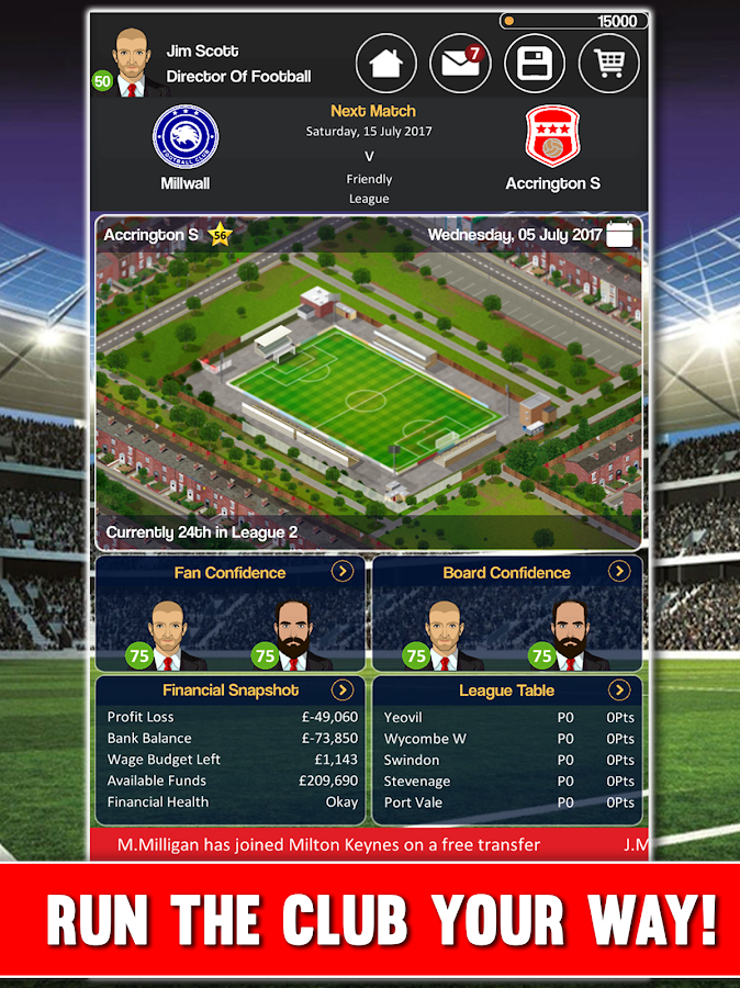 Club Soccer Director - Soccer Club Manager Sim Screenshot 11