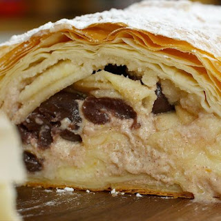 Cherry Apple and Ricotta Strudel