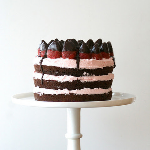Chocolate Dipped Strawberry Chocolate Cake