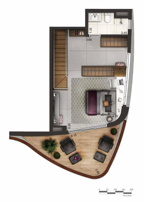 Apto Duplex Superior - 94,5 m²