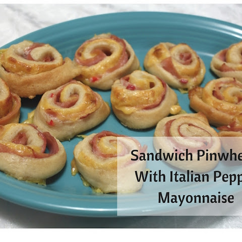 Sandwich Pinwheels With Italian Pepper Mayonnaise