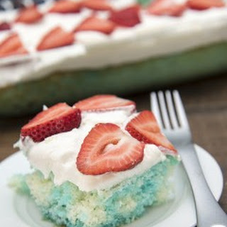 Red, White, and Blue Jello Poke Cake