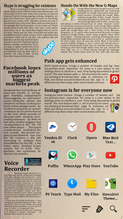 Newspaper 2 for Total Launcher Screenshot 1