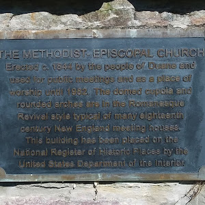 The Methodist-Episcopal Church Erected c.1844 by the people of Duane and used for public meetings and as a place of worship until 1982. The domed cupola and rounded arches are in the Romanesque ...