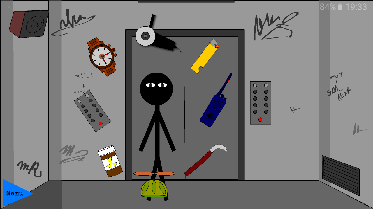 Stickman escape lift  poster