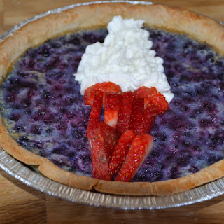 Blueberry Custard Compass Pie
