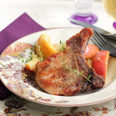 Oven Pork Chops with Sauteed Apples