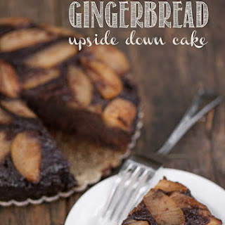 Bourbon Glazed Apple Gingerbread Upside Down Cake