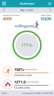 Walkingspree Platform Fitness app screenshot 1 for Android