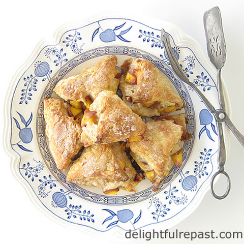 Fresh Peach Scones