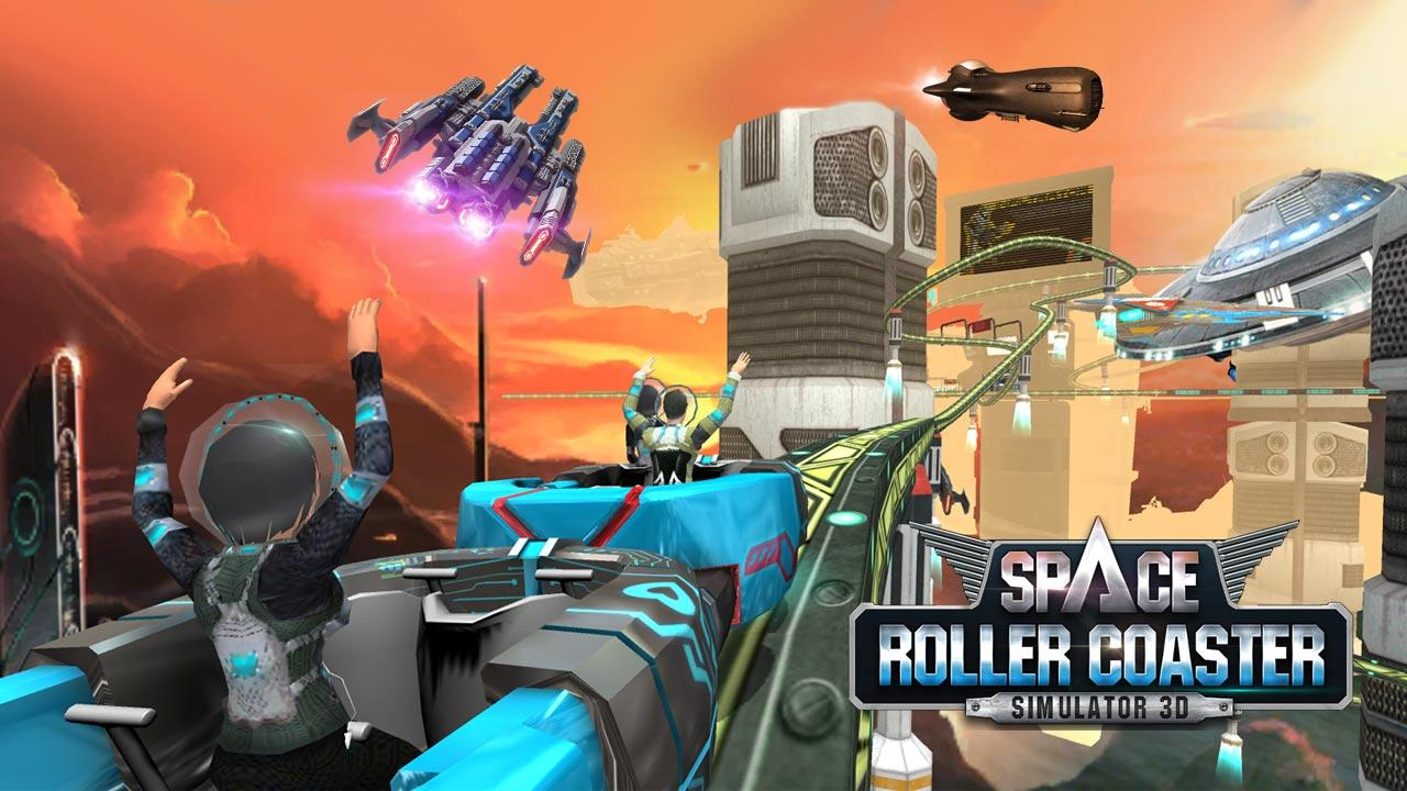 Roller Coaster Simulator Space Screenshot 2