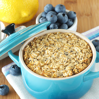Lemon and Poppy Seed Baked Oatmeal