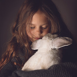 kiss from my bunny by Lucia STA - Babies & Children Child Portraits
