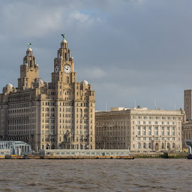 Liverpool Waterfront by Simon Sweetman - City,  Street & Park  Skylines ( england, merseyside, liverpool, liver, waterfront, city )