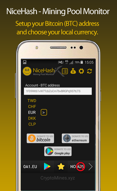 NiceHash Mining Pool Monitor 4