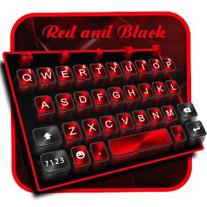3D Classic Business Red Black keyboard Theme For PC / Windows 7/8/10 / Mac – Free Download