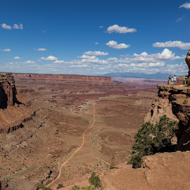 Shafer Canyon Overlook by Jim Talbert - Landscapes Travel ( canon, wow, red, sky, nature, utah, national parks, visit utah, beautiful utah, landscape, landscapes, deep, canyonlands national park, shafer canyon overlook )