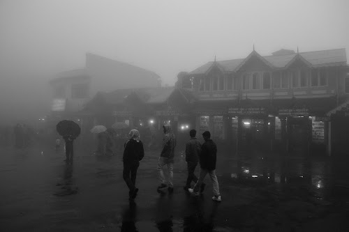 Foggy Darjeeling... by Anupam Pal - City,  Street & Park  Street Scenes ( darjeeling )