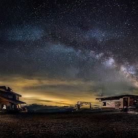 Starry Night by Leonardo Bordini - Landscapes Starscapes ( mountains, sky, stars, night, landscape, nightscape, milky way, starry )