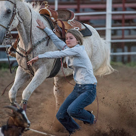 by Kevin Esterline - Sports & Fitness Rodeo/Bull Riding ( horse, saddle, rodeo, girl, female, rider )