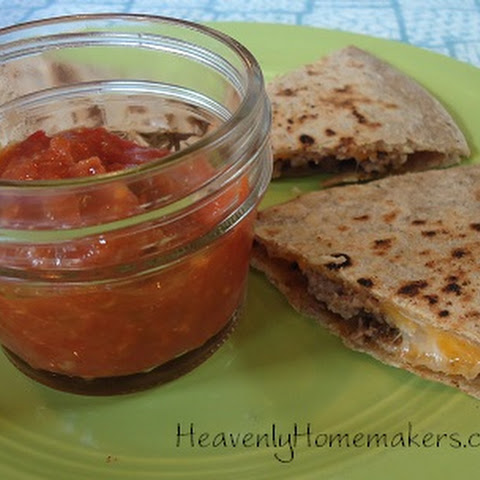 Taco Quesadillas ~ The Make-Ahead Lunch Box