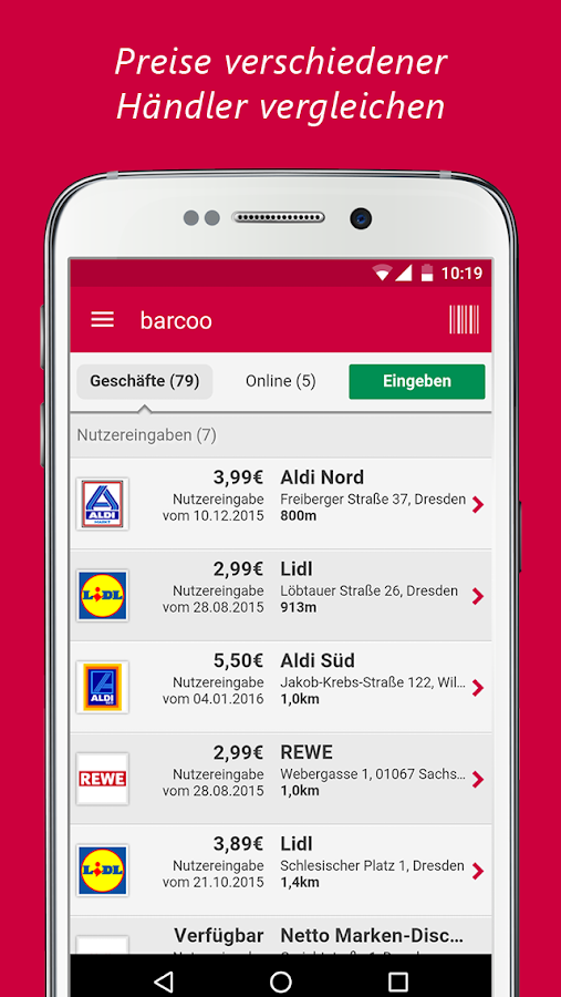 barcoo Barcode & QR Scanner Screenshot 5