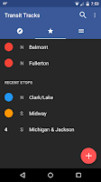 Screenshot of Transit Tracks: Chicago CTA