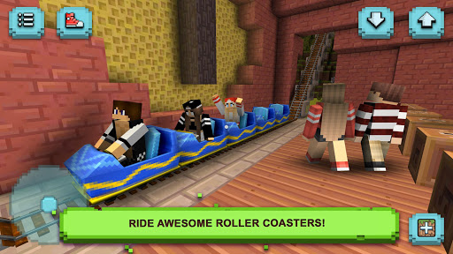 Theme Park Craft: Build & Ride screenshot 9