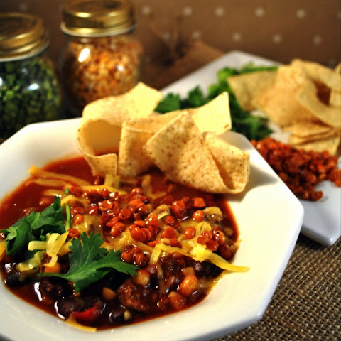 Roasted Yellow Split Pea Tortilla Soup