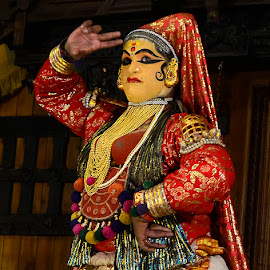 Dance art{ Eyebrow by Arup Chowdhury - People Musicians & Entertainers ( kerala kathakali show )