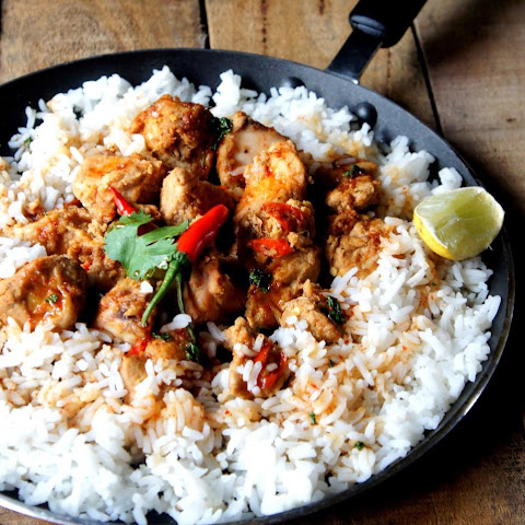 Asian Inspired Rice And Chicken With Date Palm Treacle Sauce