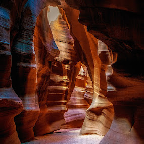 Antelope Canyon by Brent Clark - Landscapes Deserts ( slot canyon, arizona, red rock, antelope canyon, pwcredscapes )