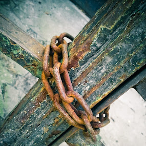 Closed rust by Alex Cruceru - Artistic Objects Other Objects ( chain, metal, closed, rust, gate )