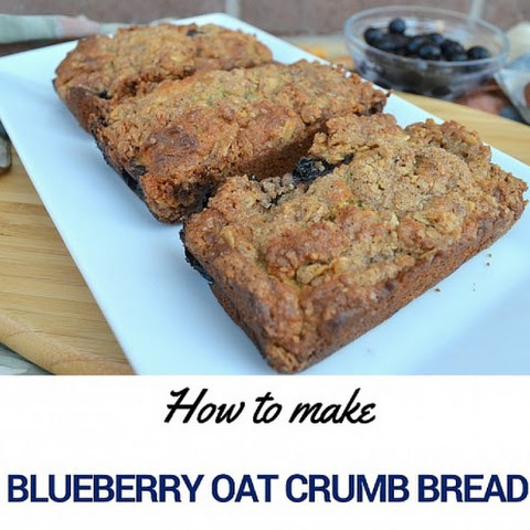 How to make Blueberry Oat Crumb Bread