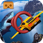 VR Hungry Shark Flying Car 3D Icon