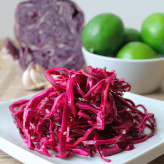 Garlic & Lime Red Cabbage Slaw