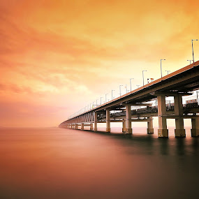 Opening of the drama by Hiro Ytwo - Landscapes Waterscapes ( reflection, sky, sea, bridge )