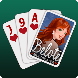 The Belote & Coinche Pro League - Multiplayer on mobile and tablet! APK Icon